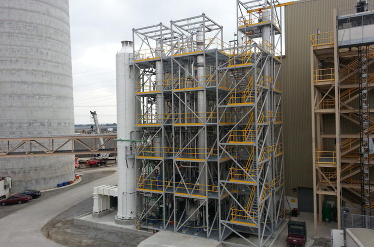 The UK Center for Applied Energy Research's 0.7 megawatt small pilot CO2 capture facility operates at Kentucky Utilities' E.W. Brown Generating Station in Burgin, Kentucky.