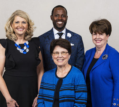 Mary L. Shelman (right) was elected president of the UK Alumni Association.