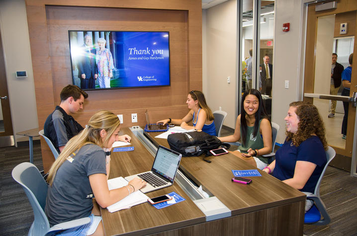 UK College of Engineering holds reception dedicating James and Gay Hardymon Center for Student Success - 3rd floor F. Paul Anderson Tower.