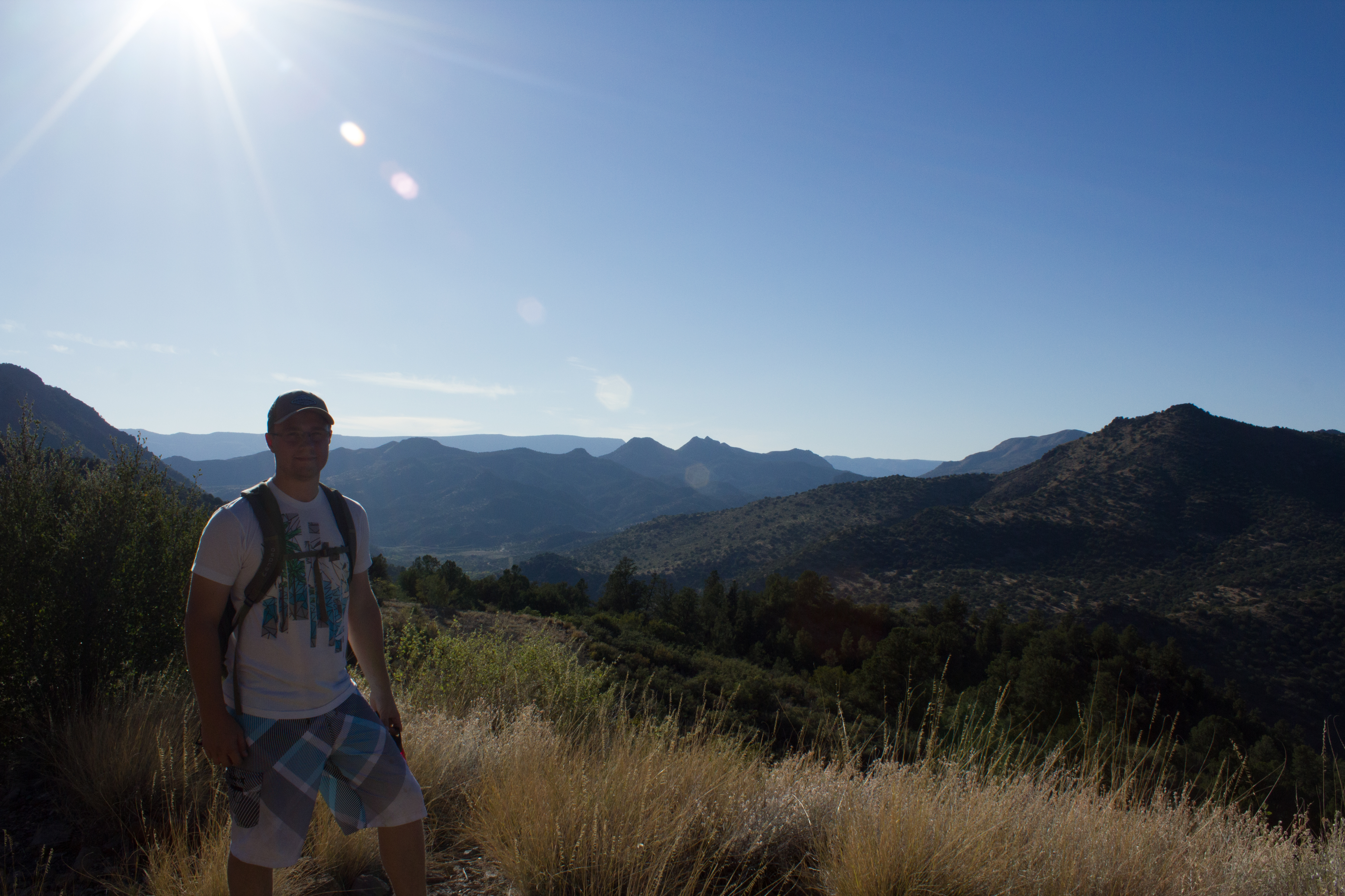 UK BMES member Dillon Huffman found some time for hiking after presenting his research on sleep modulation.