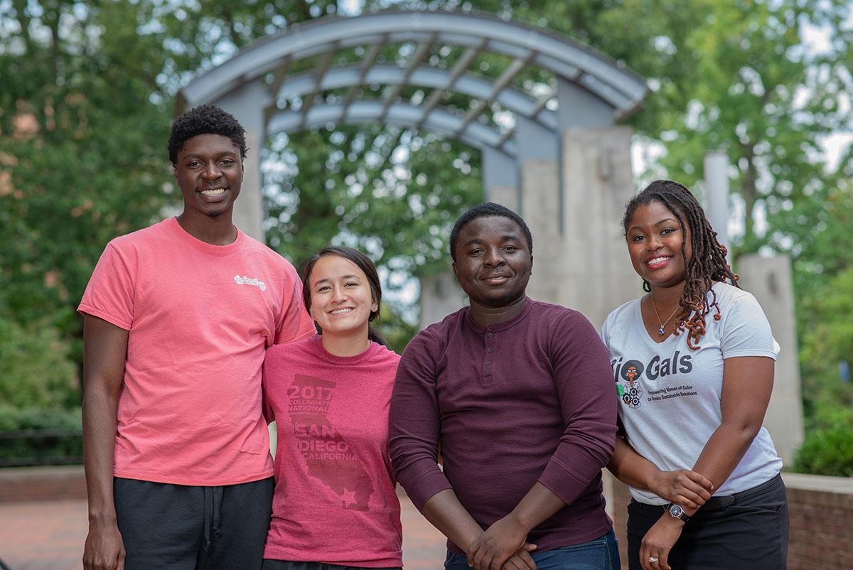 Shakira Hobbs and her graduate students.