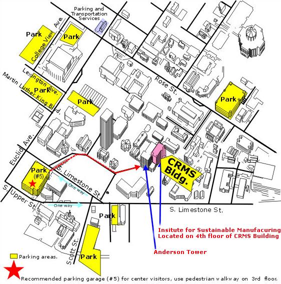 University Of Kentucky Parking Map Directions | University of Kentucky College of Engineering University Of Kentucky Parking Map