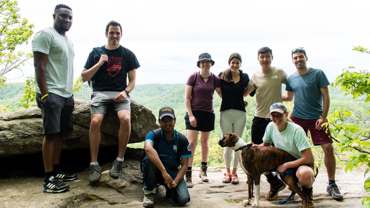 MACE enjoying a group hike